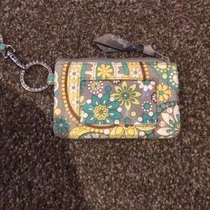 Vera Bradley ID wallet and lanyard
